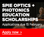 Optics + Photonics Education Scholarships