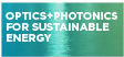 Optics+Photonics for Sustainable Energy