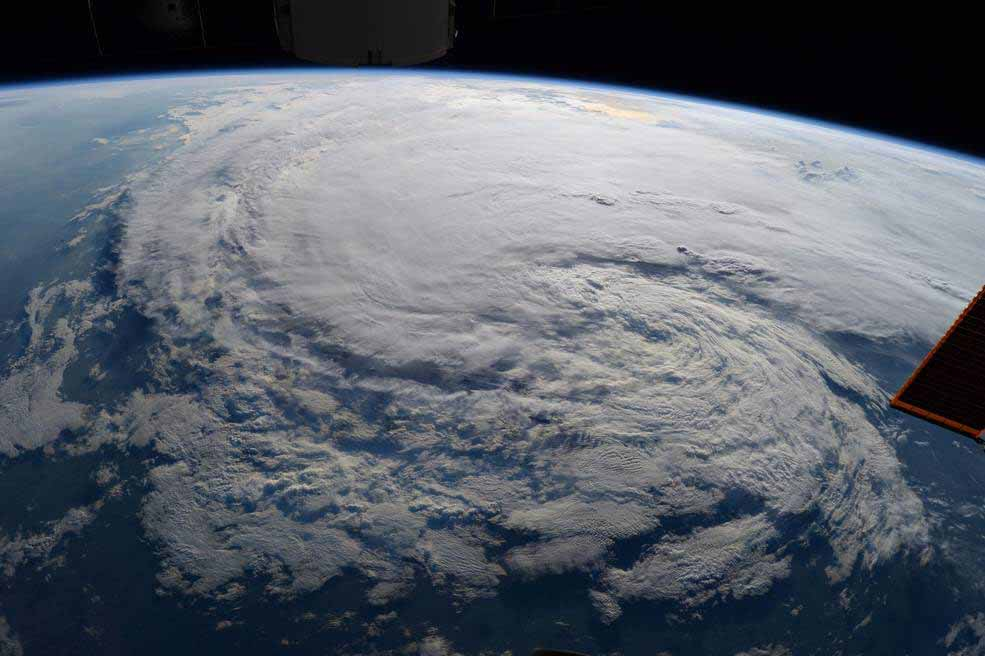 Astronaut Randy Bresnik took this photo of Tropical Storm Harvey from the International Space Station on 28 August at 1:27 p.m. CDT.