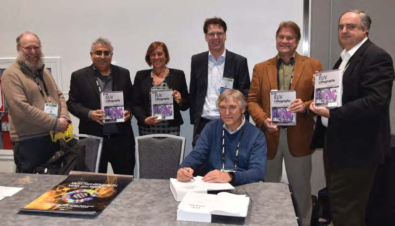 Some of the authors of SPIE Press' 2018 title EUV Lithography, Second Edition at a book signing at AL18.