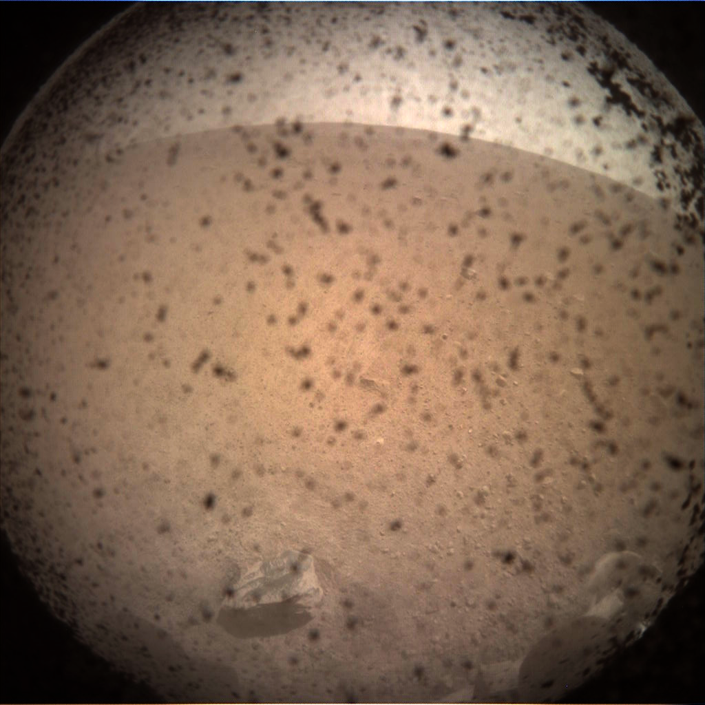 InSight sees first light on the surface of Mars with the Instrument Context Camera
