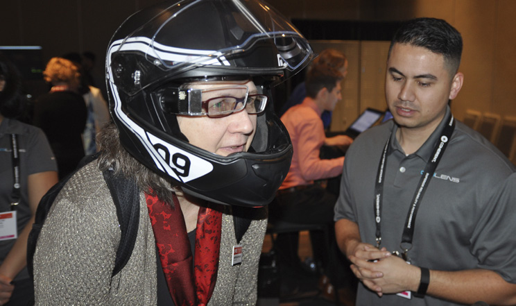SPIE President Maryellen Giger at the VR, AR, MR conference