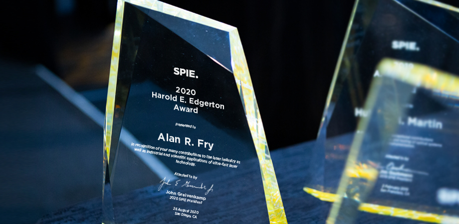 Alan R. Fry wins the 2020 SPIE Harold E. Edgerton Award in High-Speed Optics