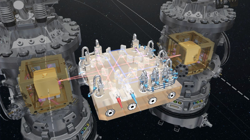 Artist's rendering of the LISA Pathfinder instrument