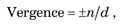 Vergence Equation