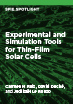 Experimental and Simulation Tools for Thin-Film Solar Cells