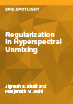Regularization in Hyperspectral Unmixing