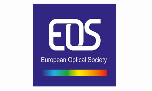 Europe Optical Society logo, SPIE Optics and Optoelectronics cooperating organisation