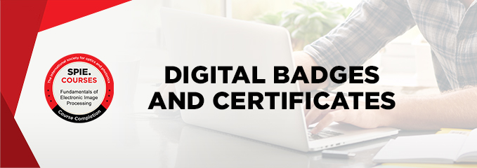 Digital badges and certificates from SPIE